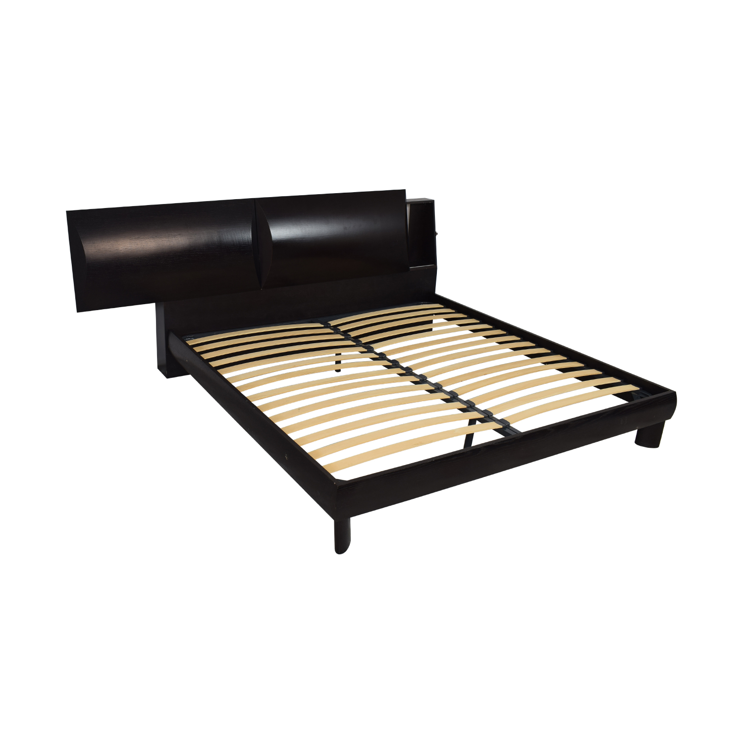 King Bed with Storage Headboard pa