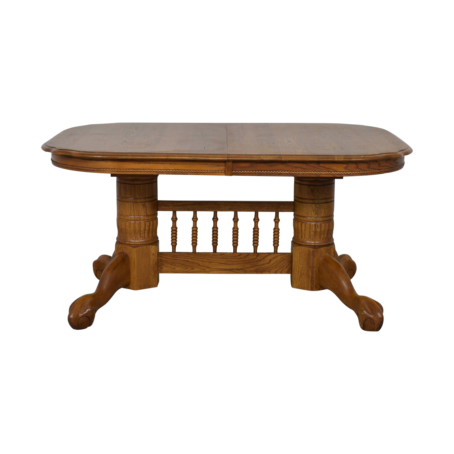 Classic Extendable Double Pedestal Dining Table