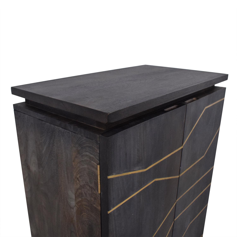 CB2 CB2 Brass Inlay Cabinet discount