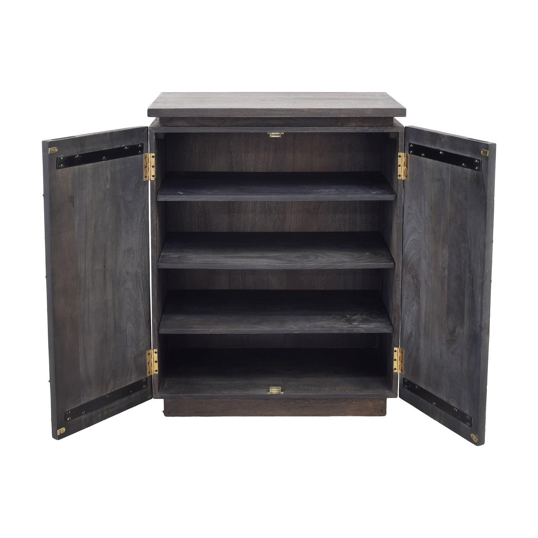 CB2 Brass Inlay Cabinet sale