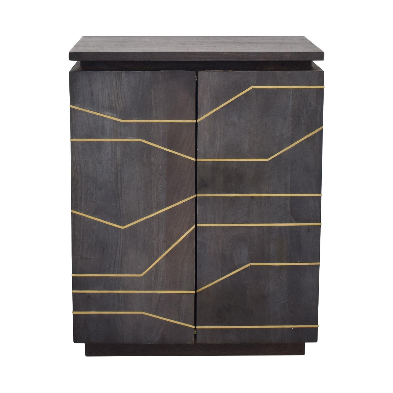 CB2 CB2 Brass Inlay Cabinet pa