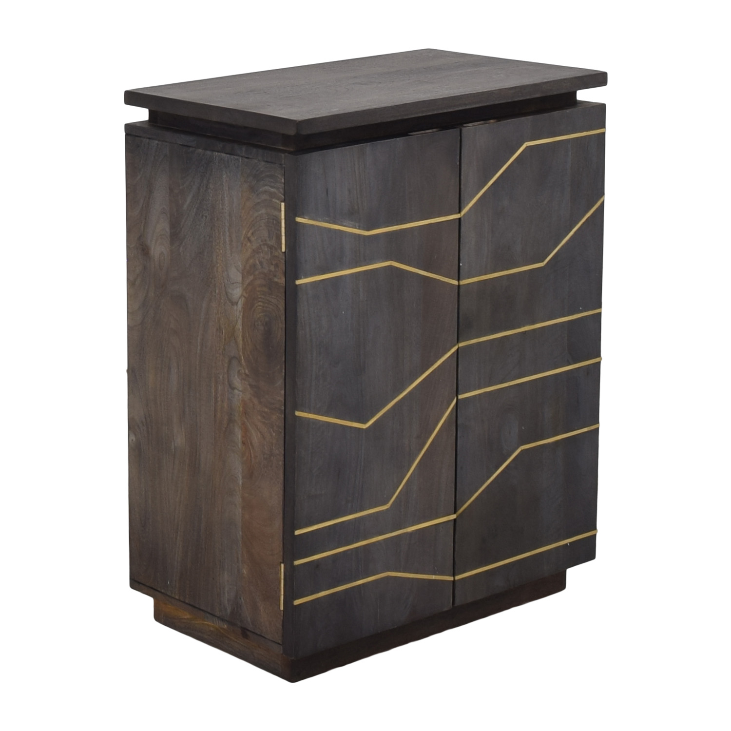 shop CB2 Brass Inlay Cabinet CB2 Cabinets & Sideboards