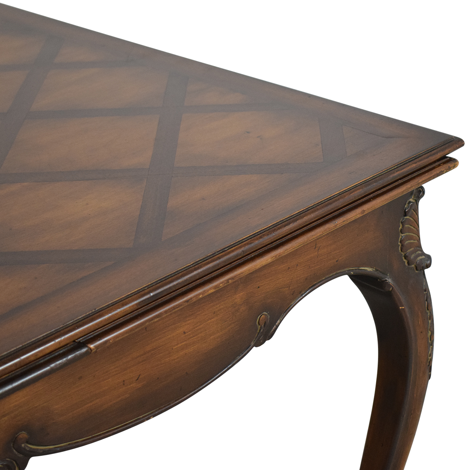 Parquet Extendable Dining Table dark brown