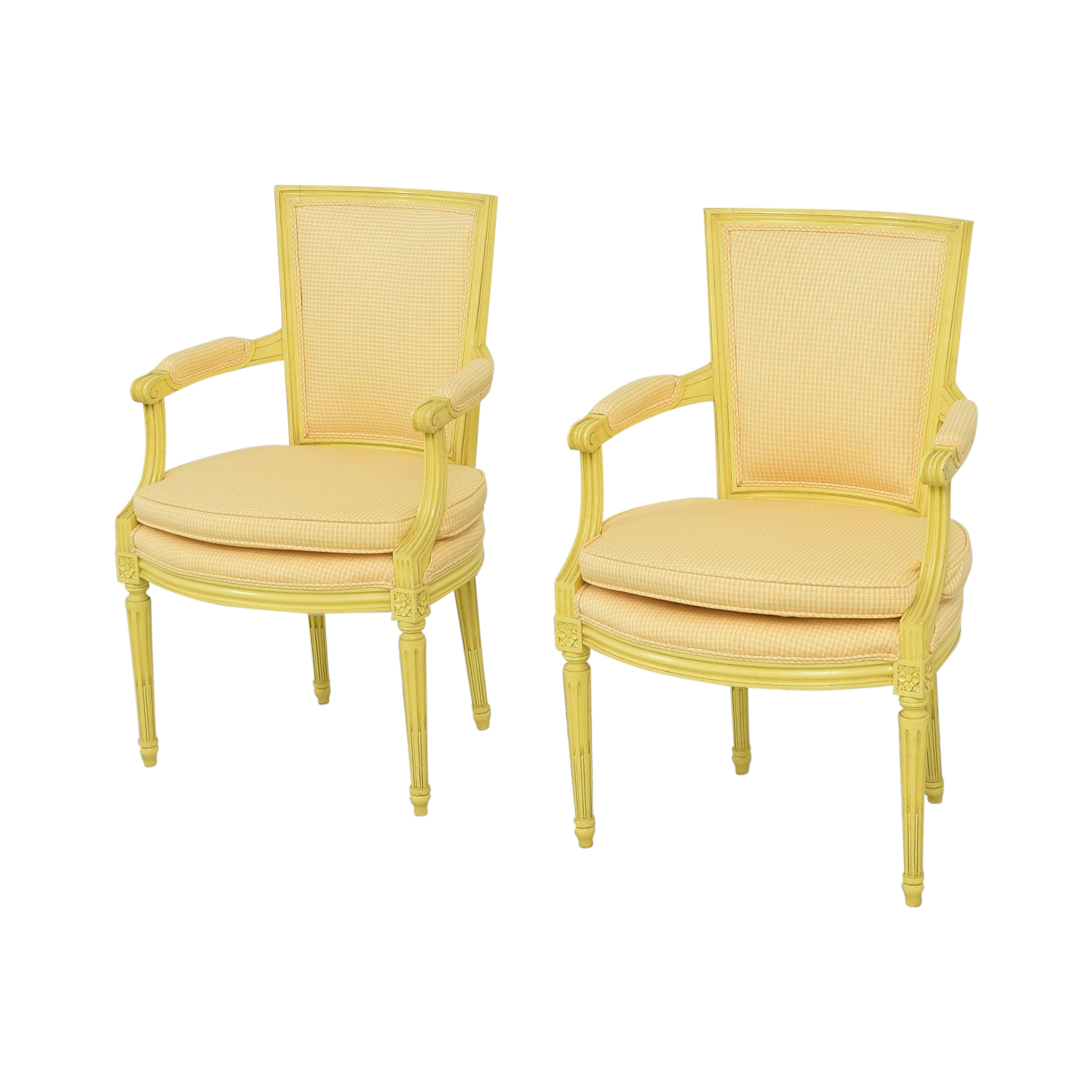 Upholstered Dining Arm Chairs second hand
