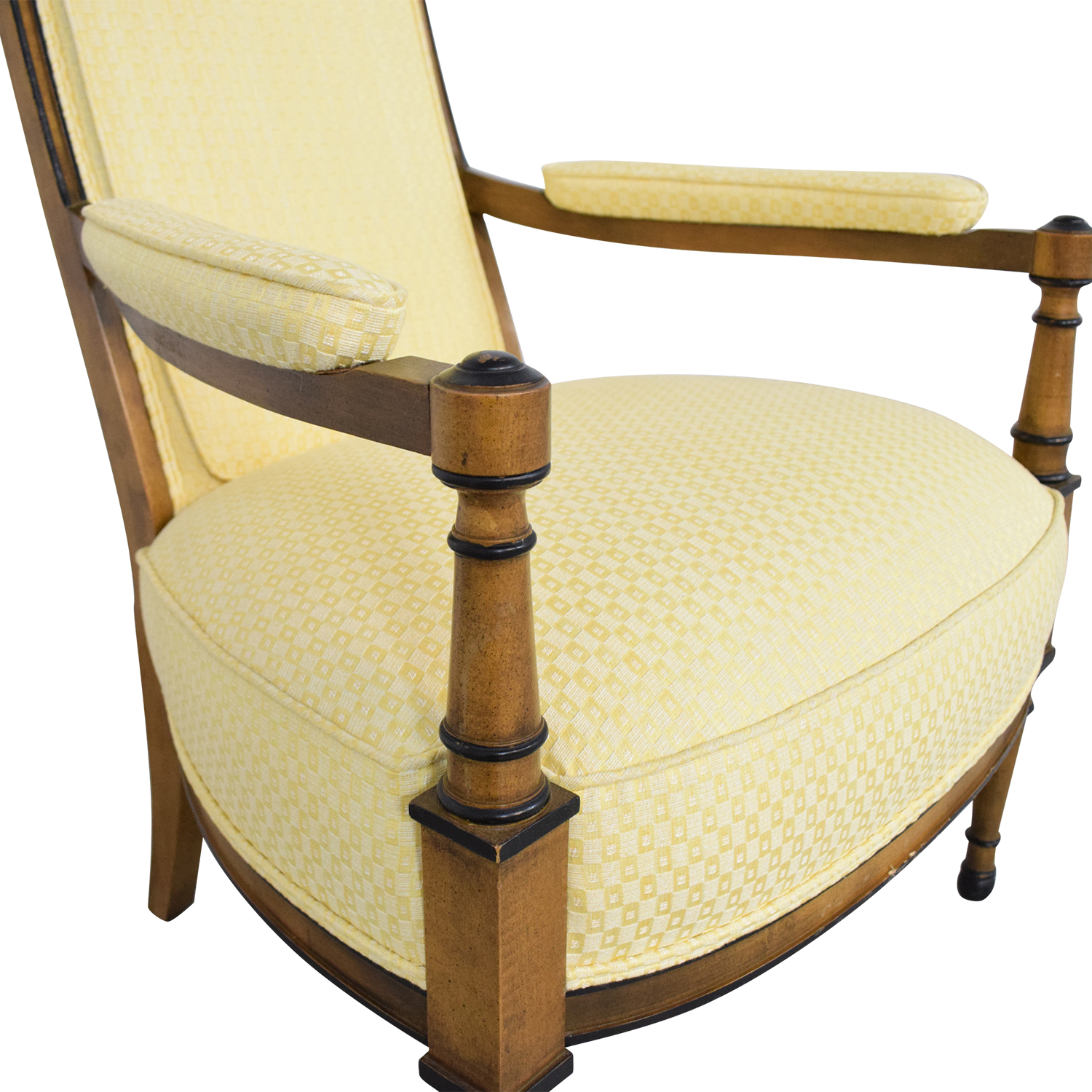 Fantastic 32 Off Upholstered High Back Chair Chairs Ibusinesslaw Wood Chair Design Ideas Ibusinesslaworg