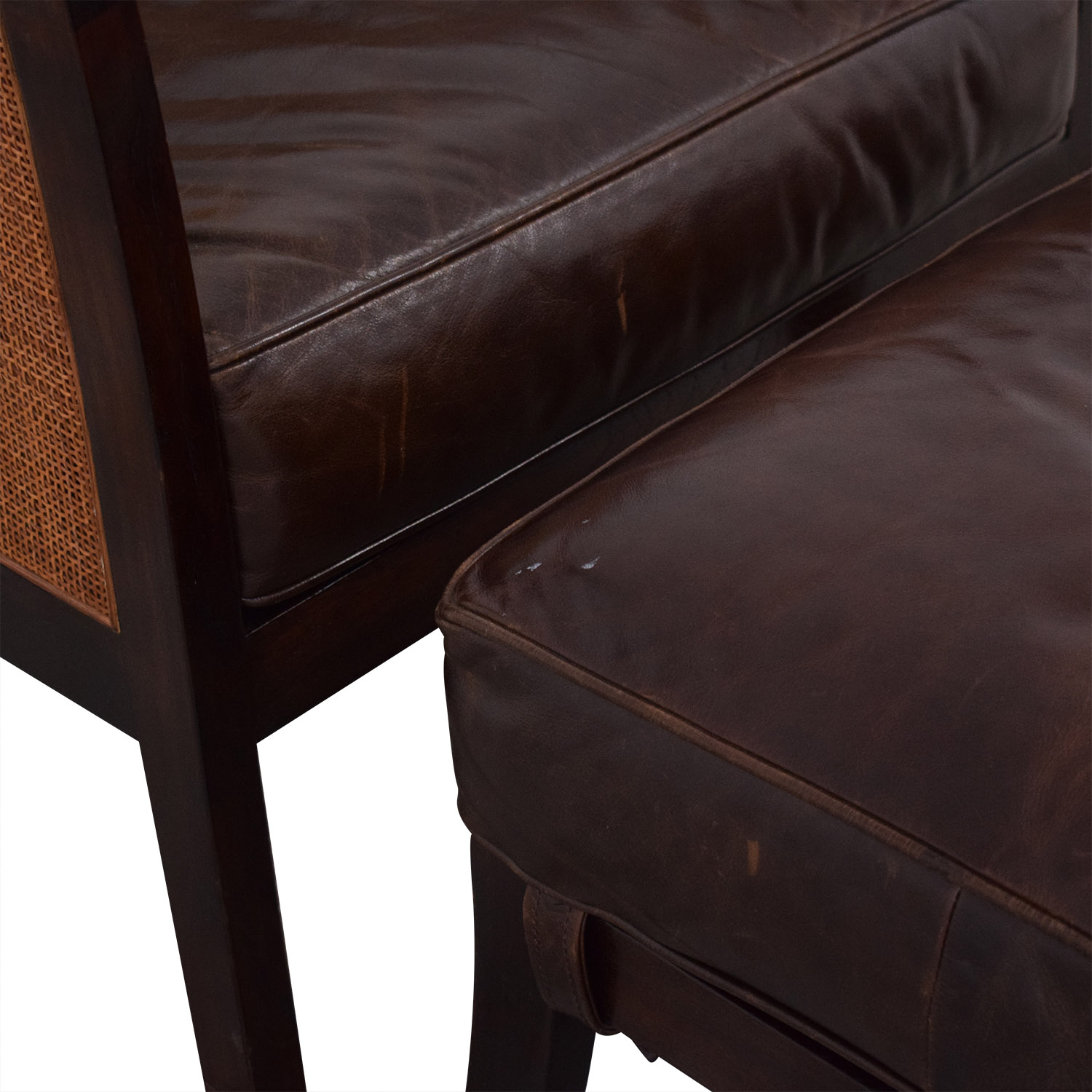 buy Crate & Barrel Blake Lounge Chair & Ottoman Crate & Barrel Accent Chairs
