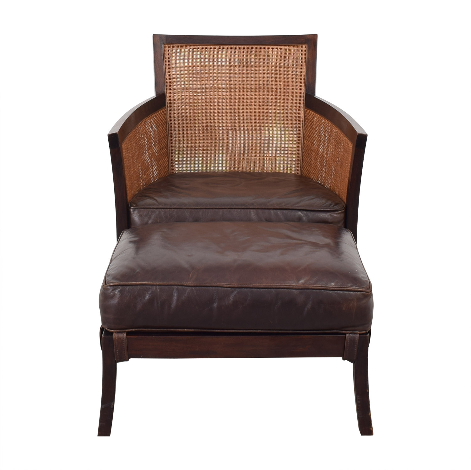 Peachy 60 Off Crate Barrel Crate Barrel Blake Lounge Chair Ottoman Chairs Gmtry Best Dining Table And Chair Ideas Images Gmtryco