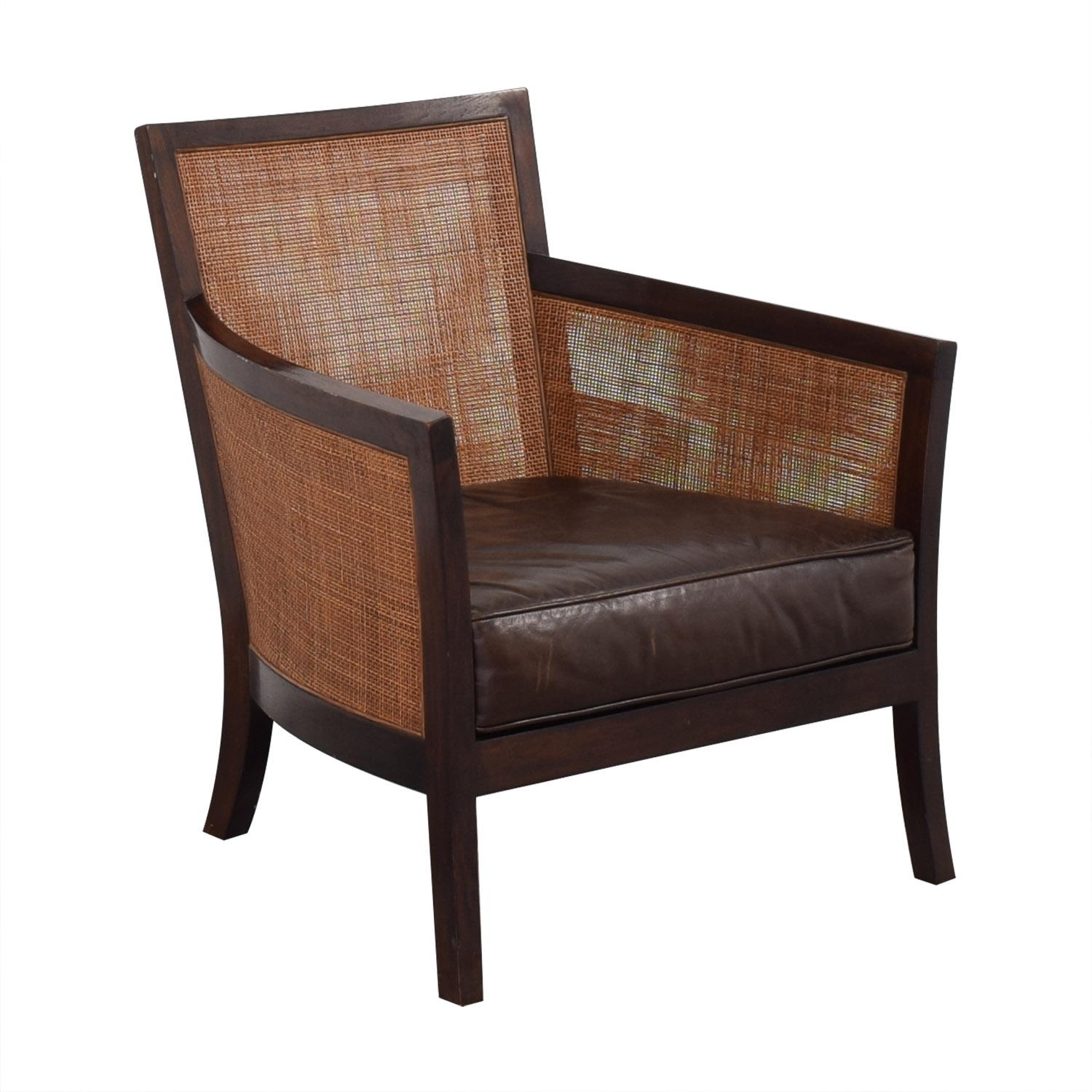 Crate & Barrel Crate & Barrel Blake Lounge Chair & Ottoman Accent Chairs