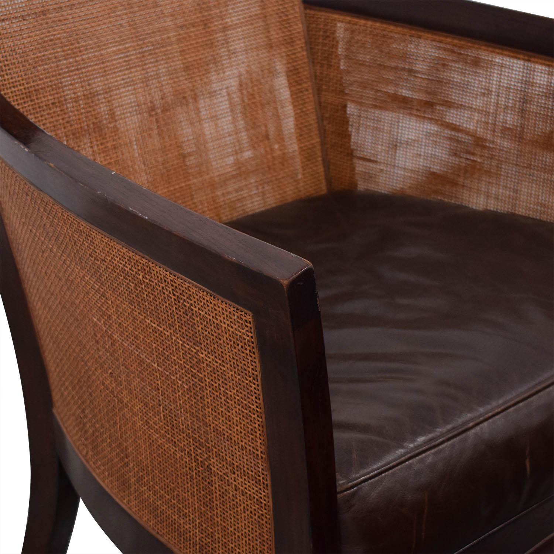 Crate & Barrel Blake Lounge Chair & Ottoman sale