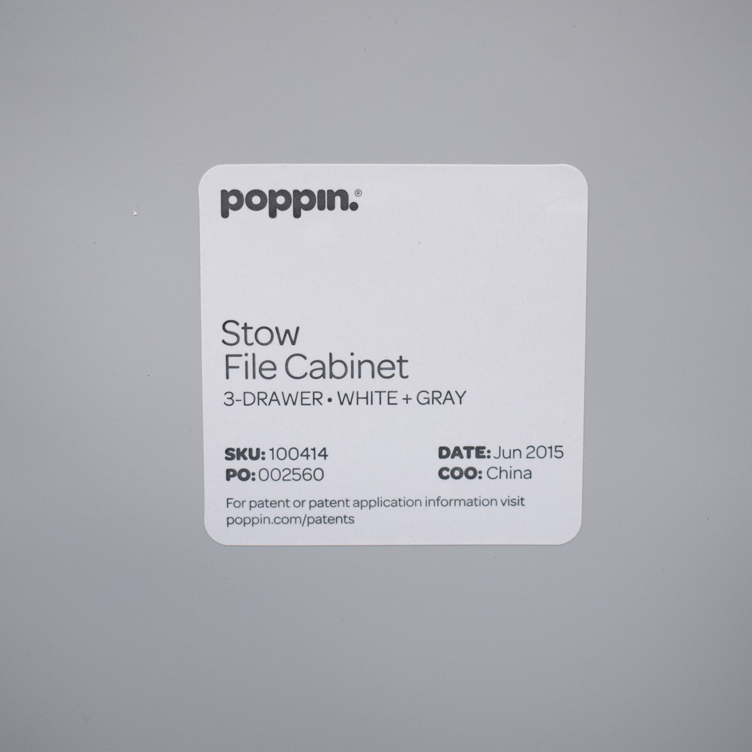 Poppin Poppin Stow File Cabinet discount