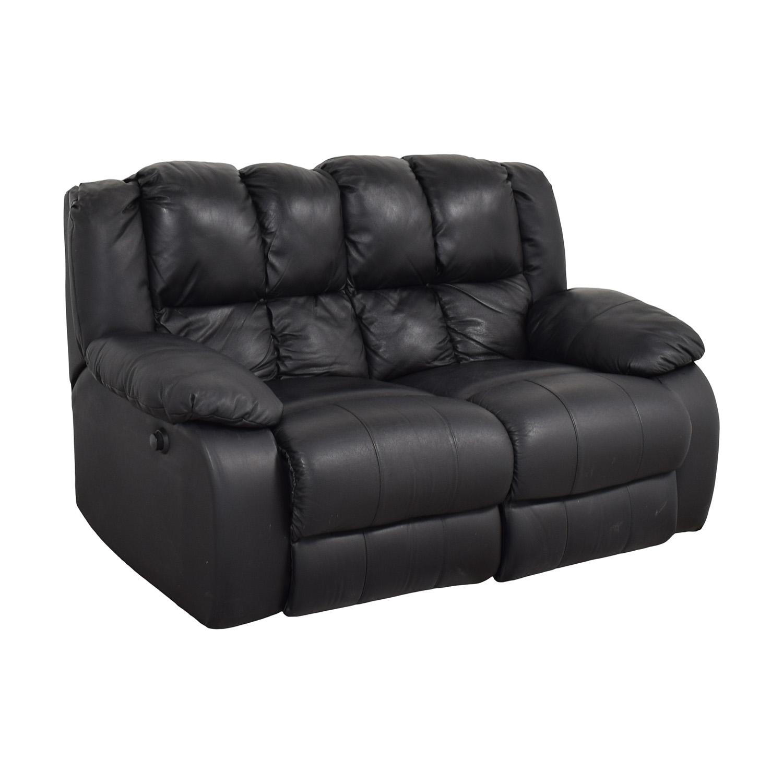 Berkline Berkline Reclining Love Seat black