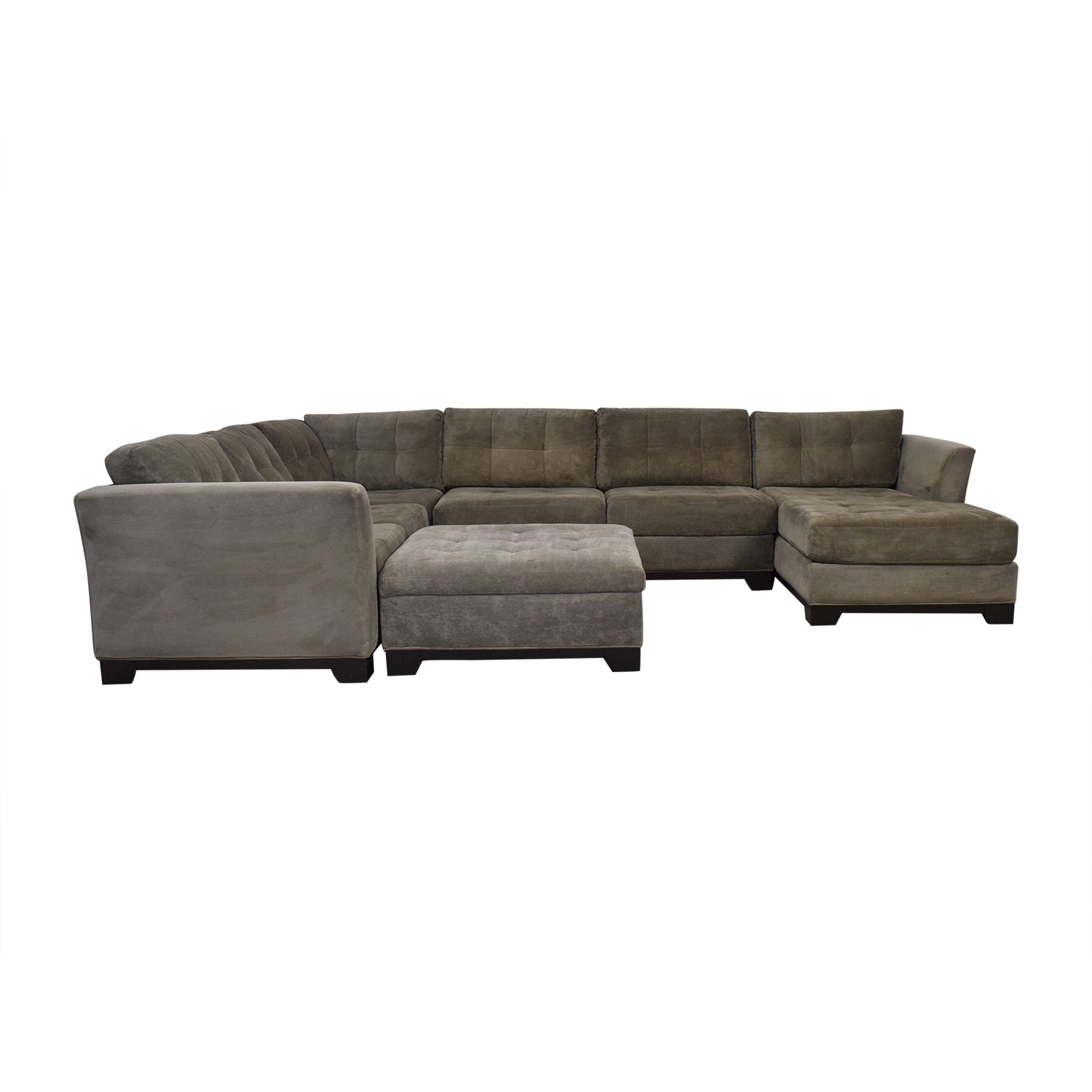 Macy's Macy's Elliot Chaise Sectional Sofa with Ottoman nj