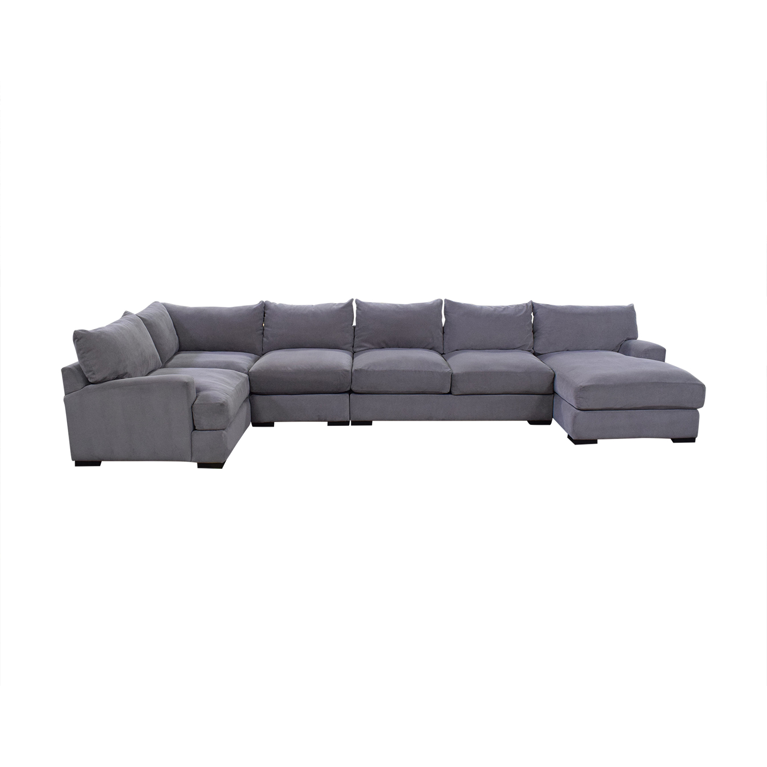 Macy's Rhyder 5 Piece Fabric Sectional Sofa with Chaise for sale