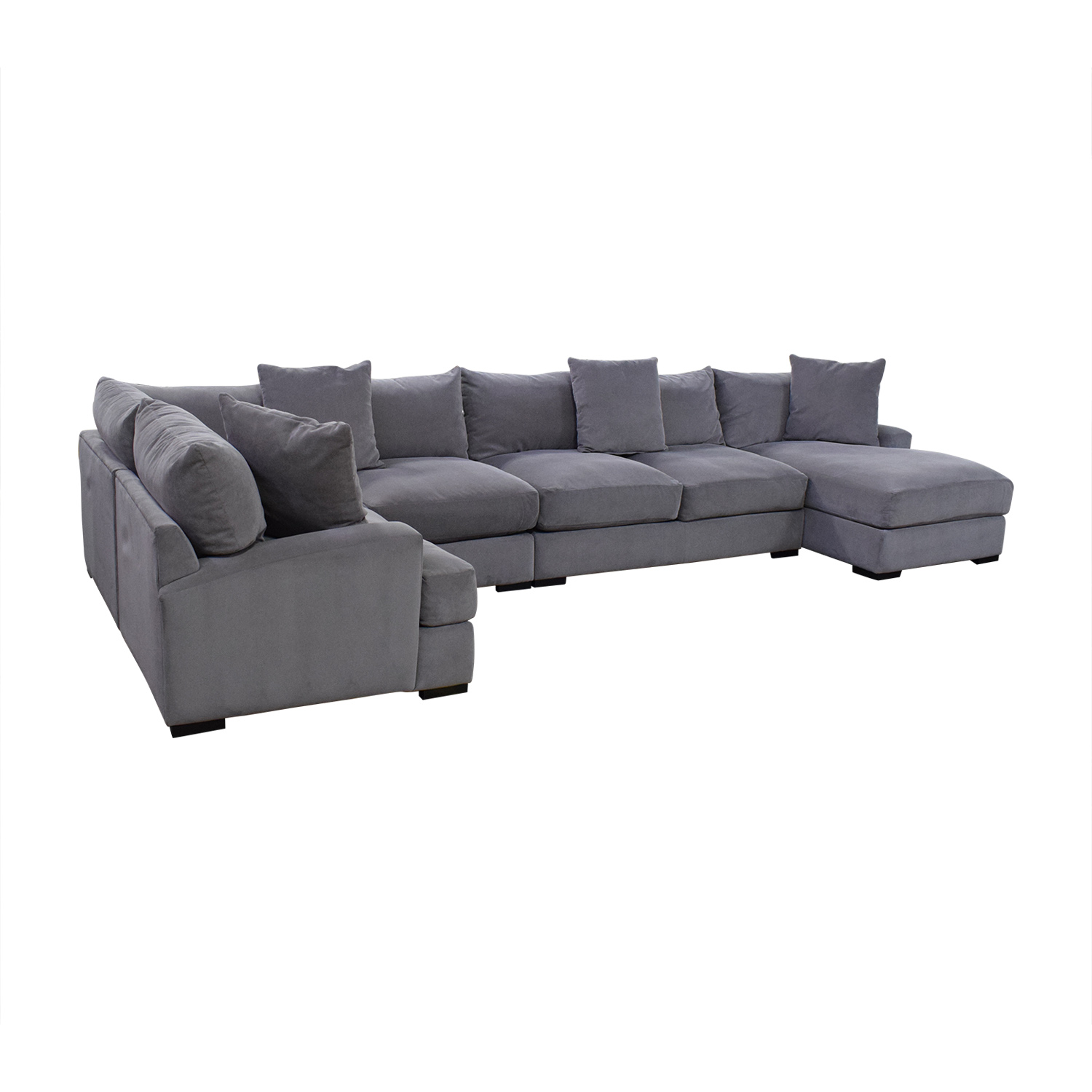 Macy's Rhyder 5 Piece Fabric Sectional Sofa with Chaise Sofas