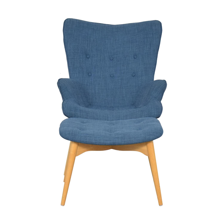 buy AllModern Canyon Vista Lounge Chair and Ottoman AllModern Chairs