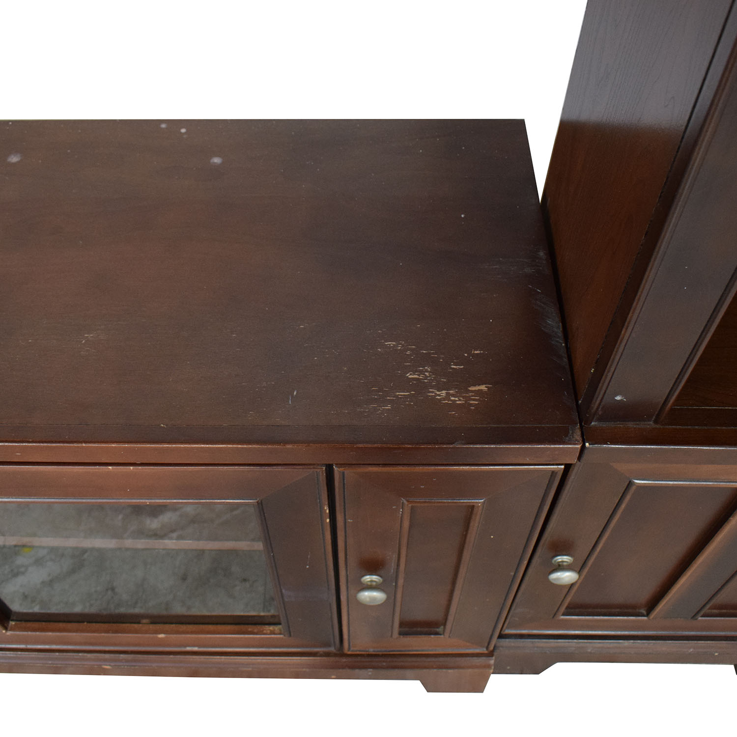 Entertainment Center with Cabinets for sale