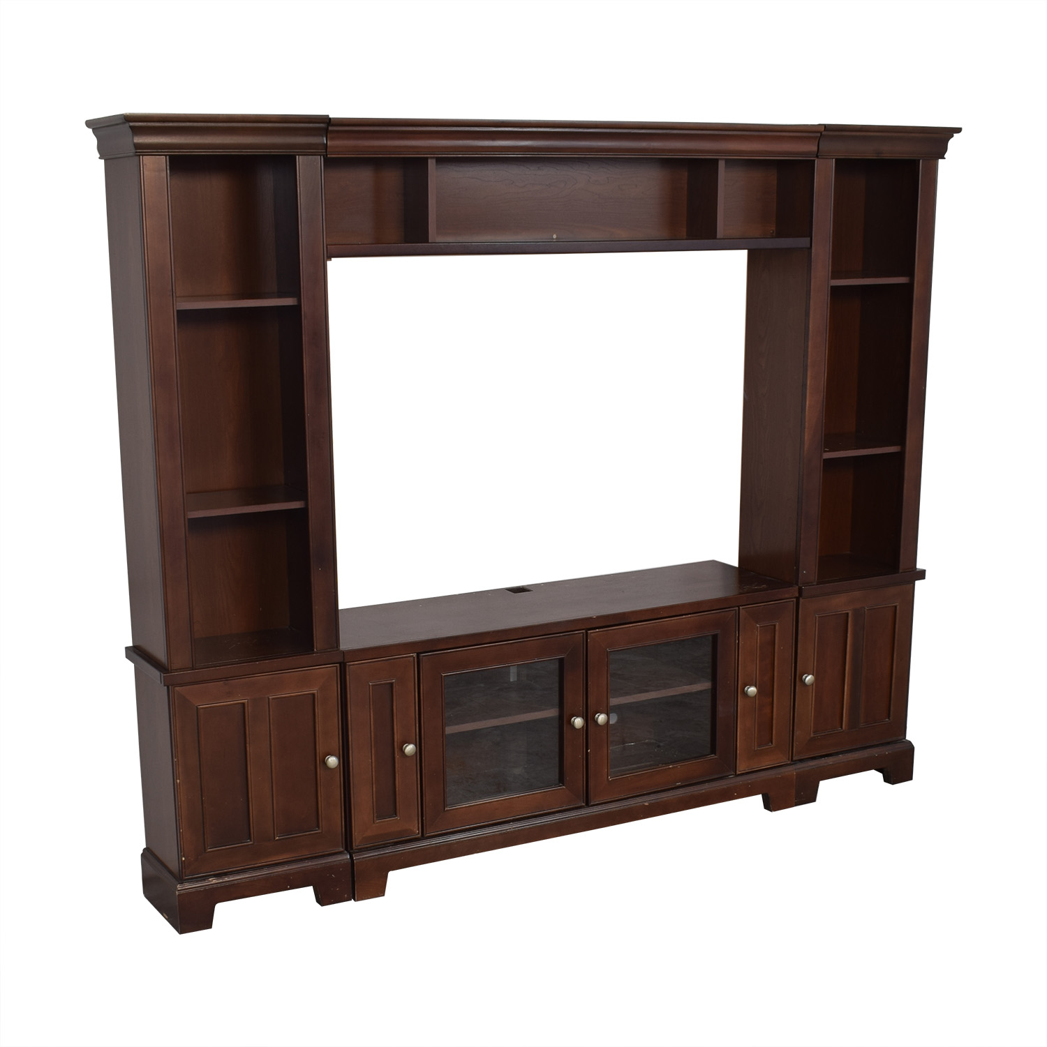 Entertainment Center with Cabinets dimensions