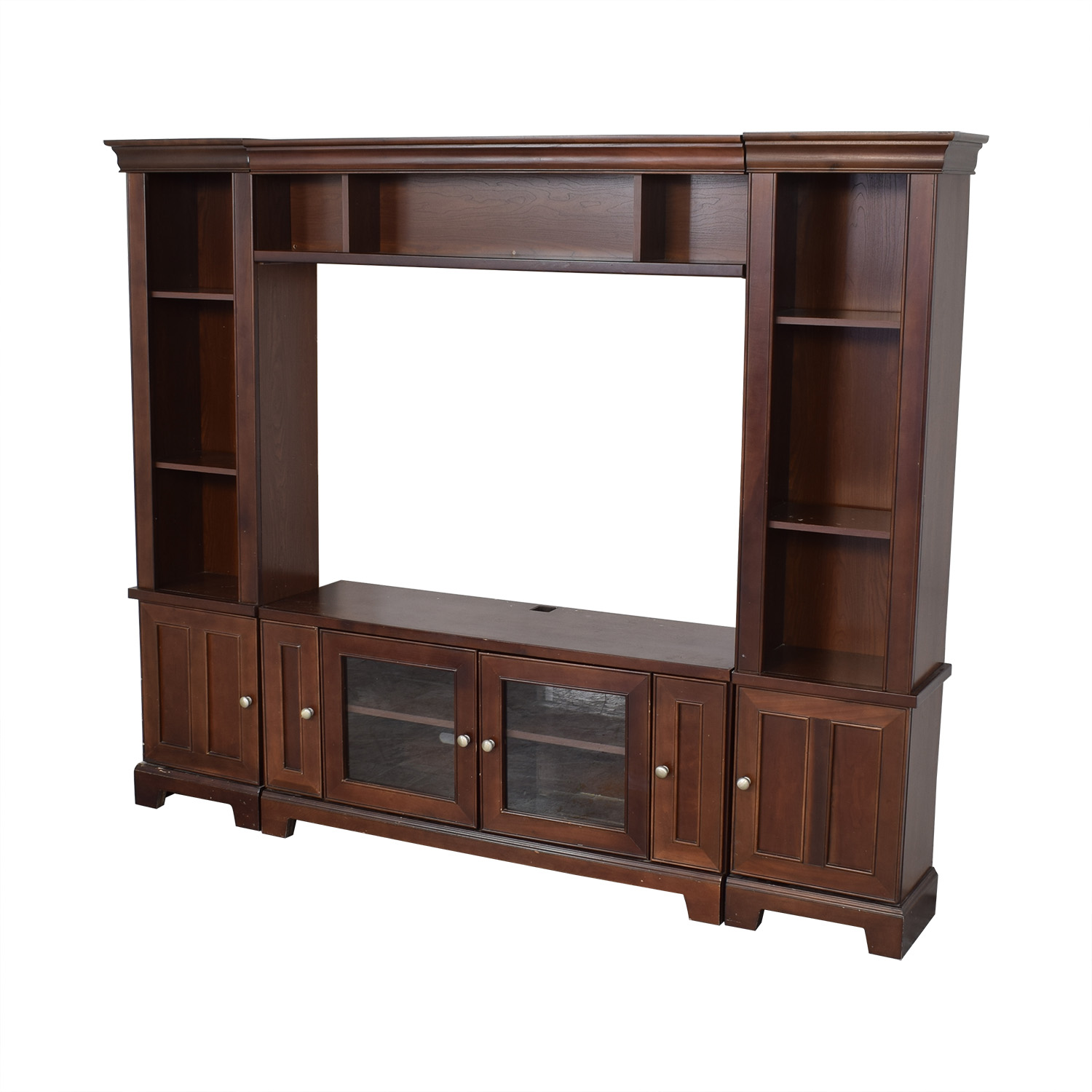 Entertainment Center with Cabinets brown