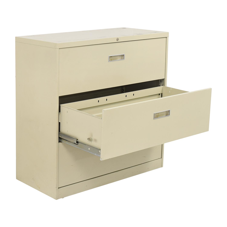 Hon Hon Three Drawer File Cabinet
