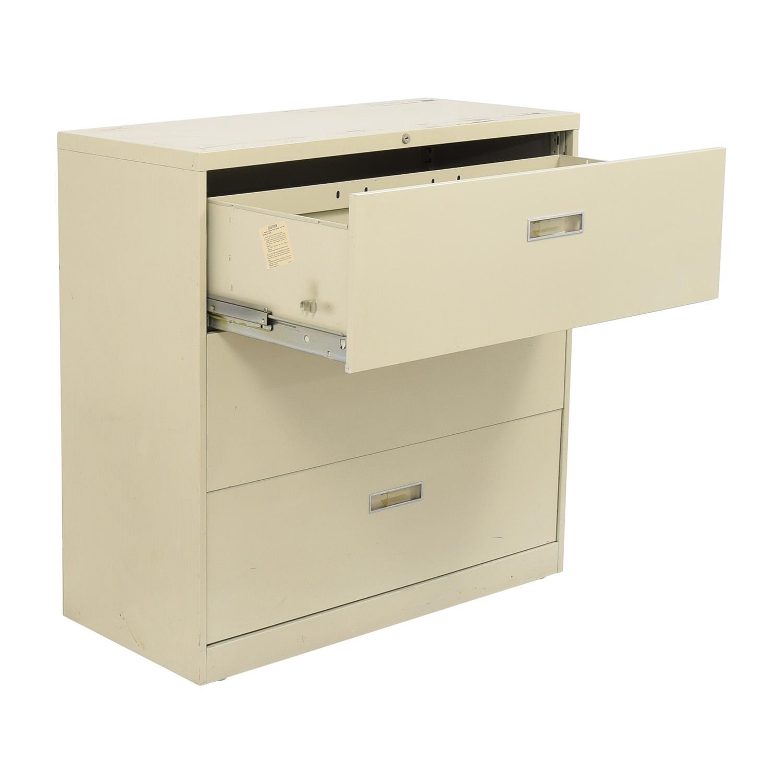 Hon Hon Three Drawer File Cabinet ma