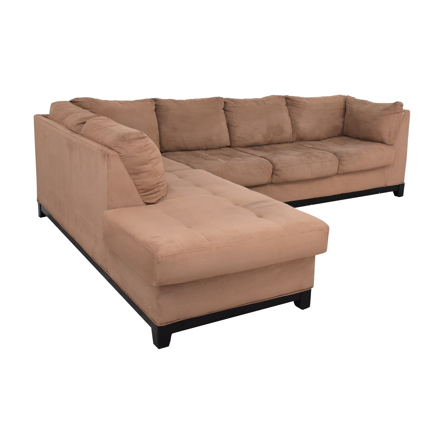 Raymour & Flanigan Raymour & Flanigan Two Piece Chaise Sectional Sofa dimensions