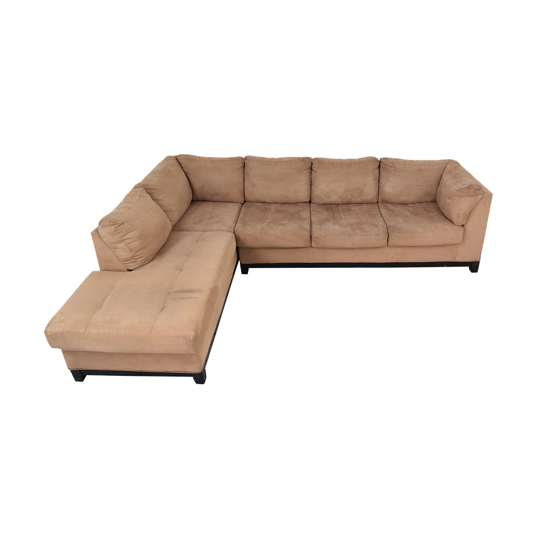 Raymour & Flanigan Raymour & Flanigan Two Piece Chaise Sectional Sofa ma