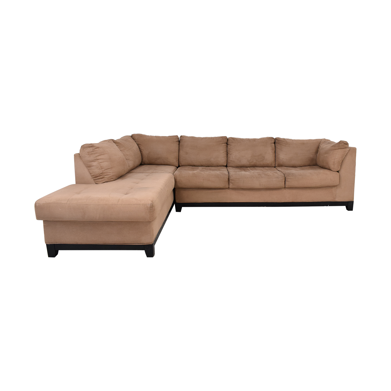 Raymour & Flanigan Two Piece Chaise Sectional Sofa / Sectionals