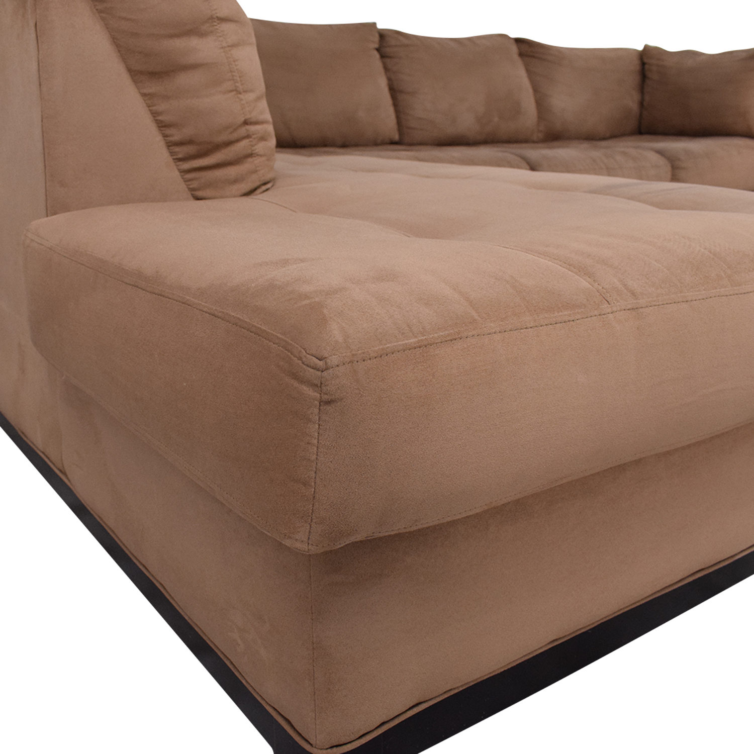 Raymour & Flanigan Raymour & Flanigan Two Piece Chaise Sectional Sofa on sale