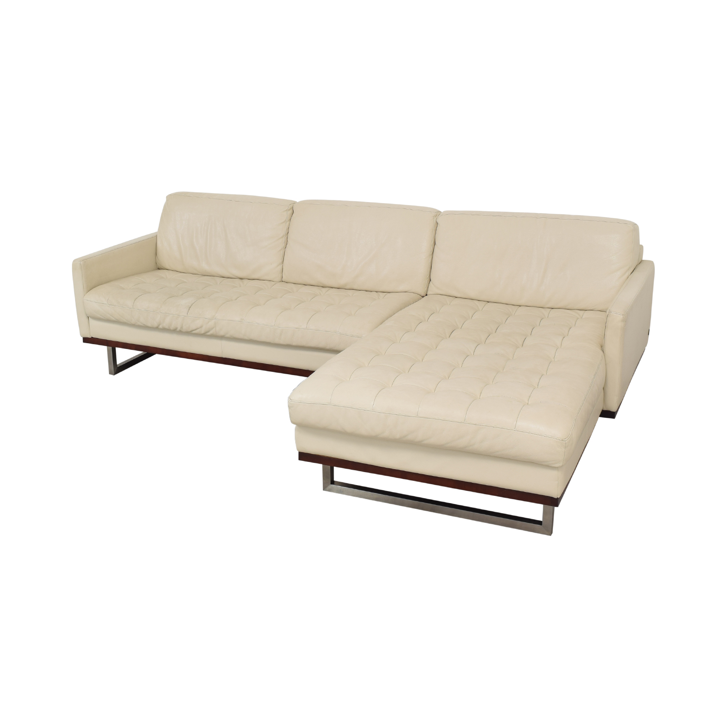 76% OFF - American Leather American Leather Chaise Sectional Sofa / Sofas