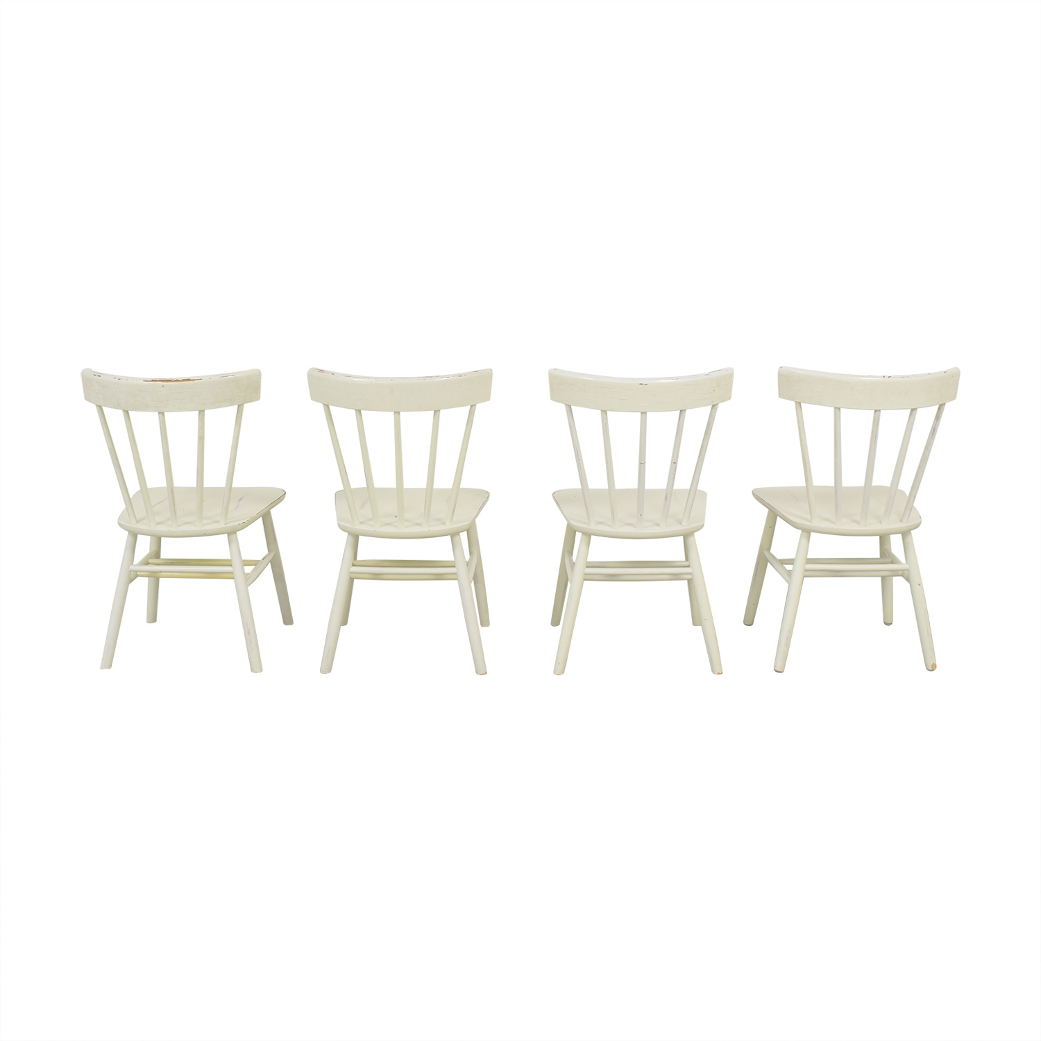 Pottery Barn Pottery Barn Rustic Dining Chairs off white
