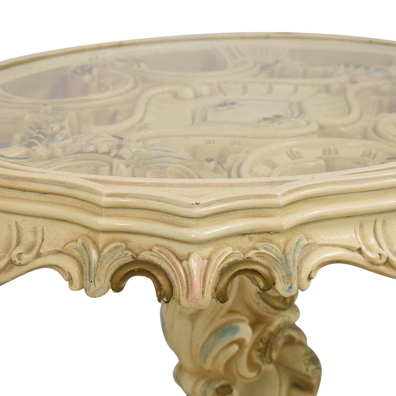 Antique Decorative End Table ma