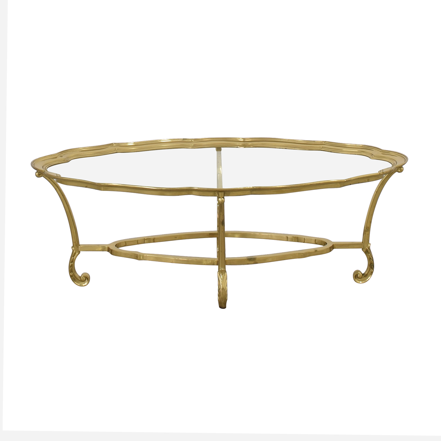 Regency Style Glass Coffee Table / Tables
