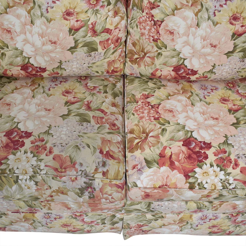 Ethan Allen Floral Slipcovered Loveseat / Loveseats