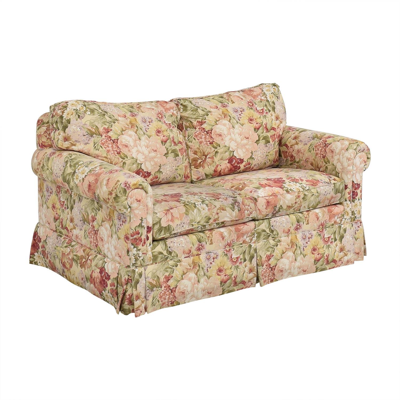 buy Ethan Allen Floral Slipcovered Loveseat Ethan Allen