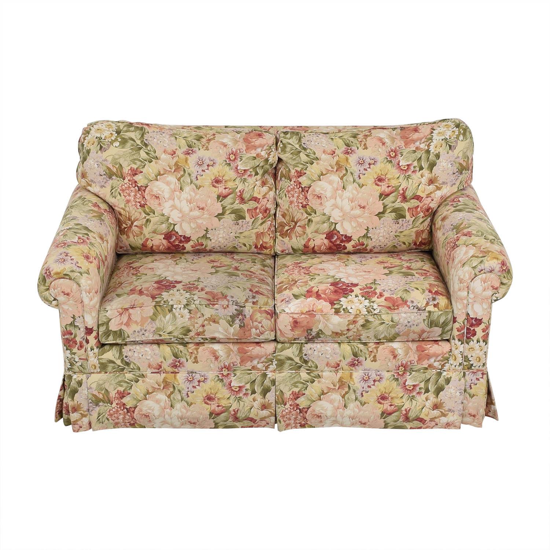 Ethan Allen Ethan Allen Floral Slipcovered Loveseat nj