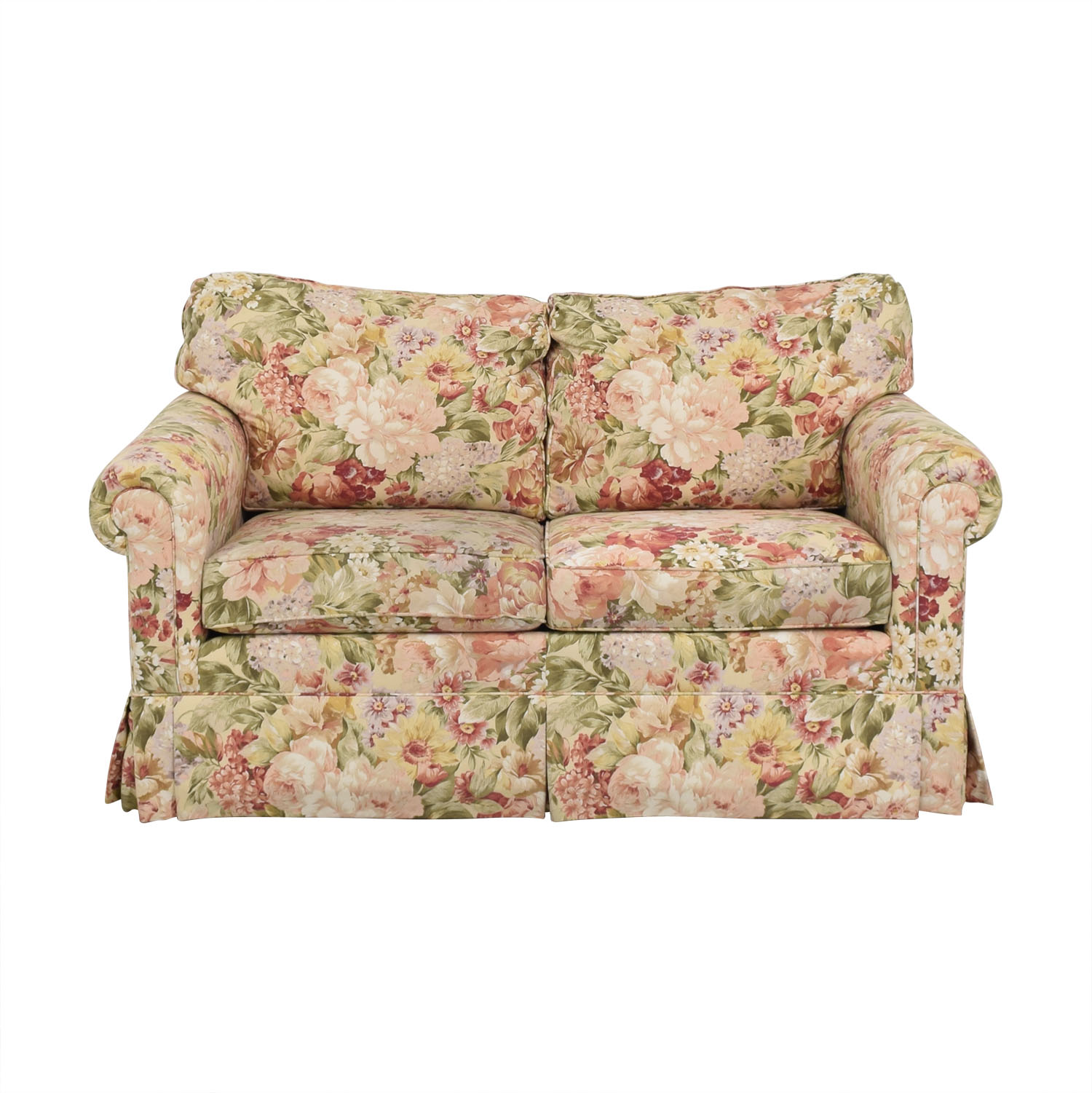 Ethan Allen Ethan Allen Floral Slipcovered Loveseat price