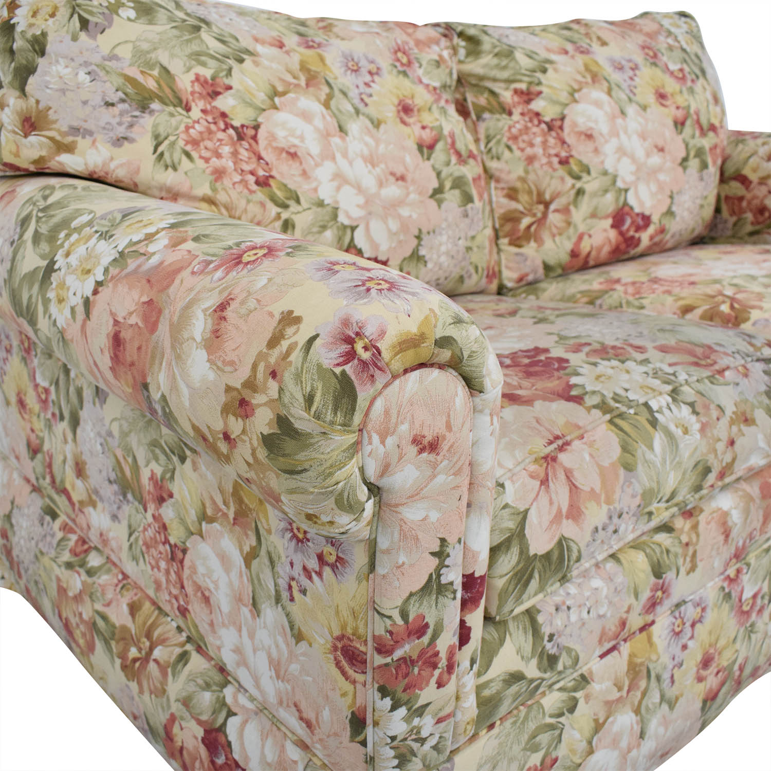 Ethan Allen Ethan Allen Floral Slipcovered Loveseat pa