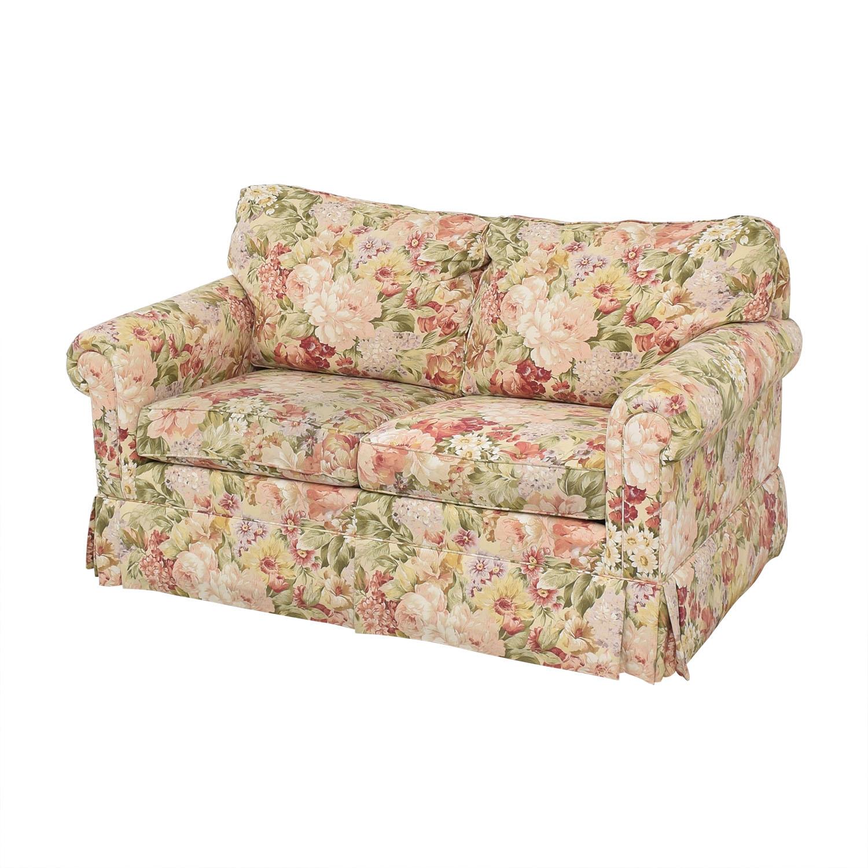 Ethan Allen Ethan Allen Floral Slipcovered Loveseat on sale