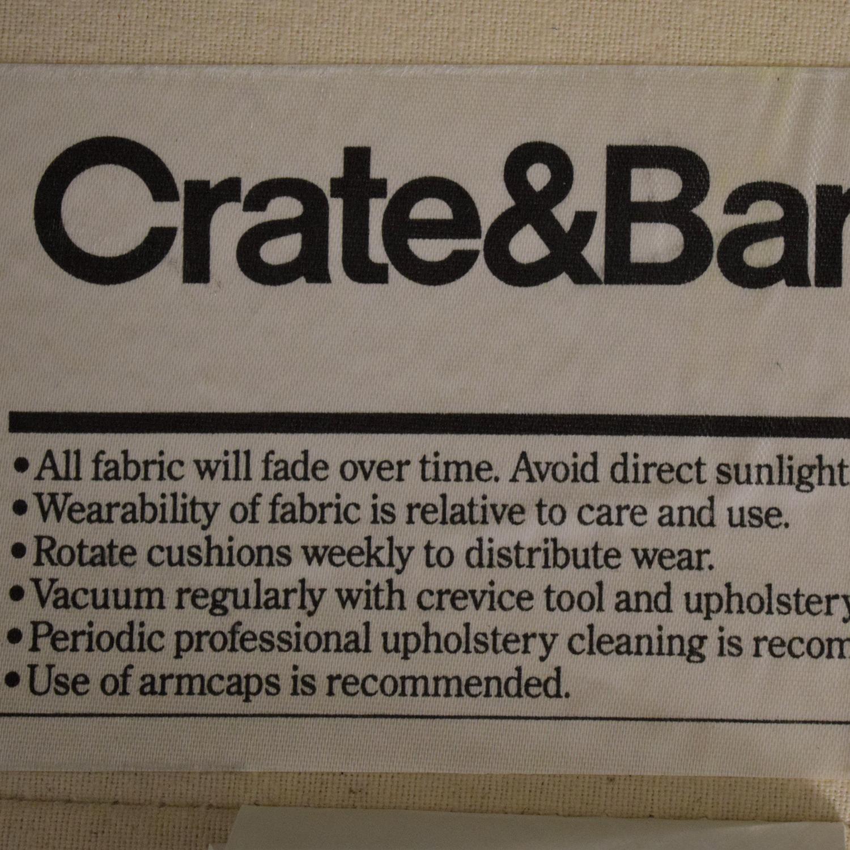 Crate & Barrel Crate & Barrel Willow Slipcover Sofa discount