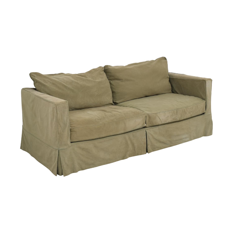Crate & Barrel Willow Slipcover Sofa sale