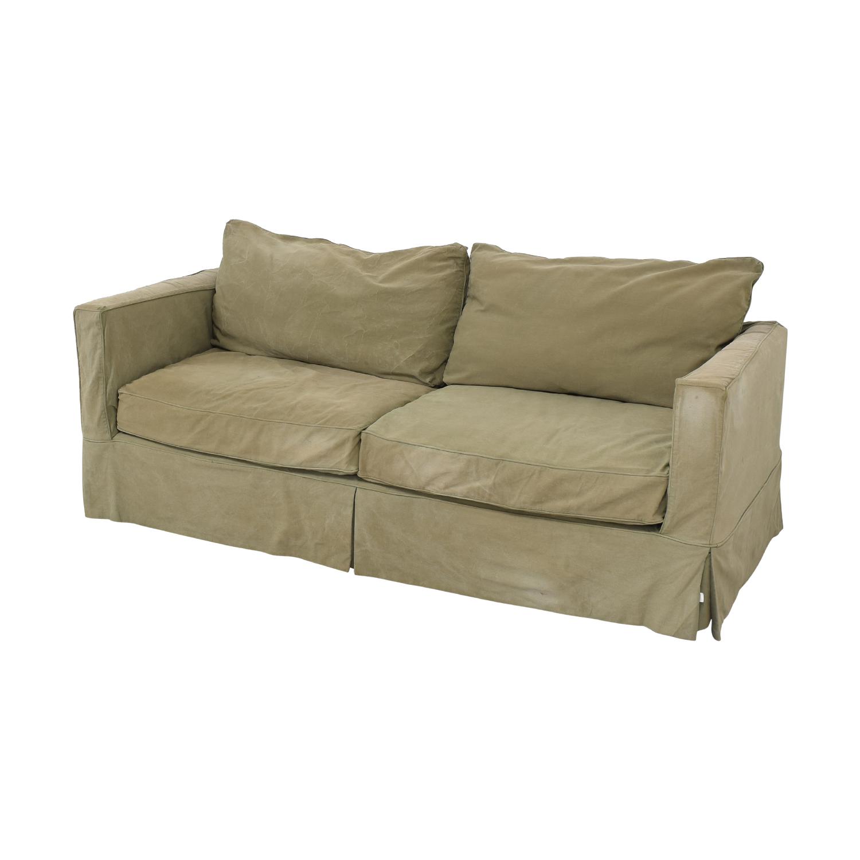 Crate & Barrel Crate & Barrel Willow Slipcover Sofa dimensions
