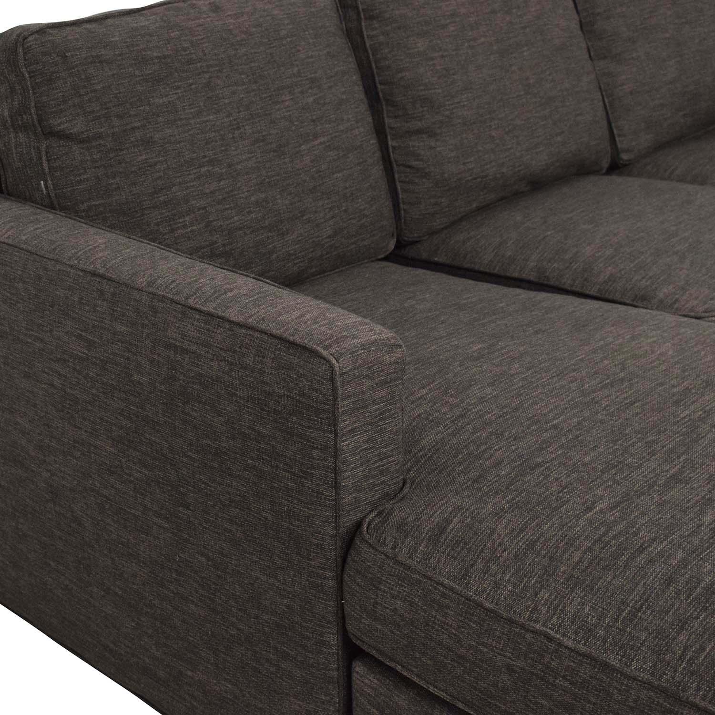 buy Crate & Barrel Reversible Chaise Sofa Crate & Barrel Sofas