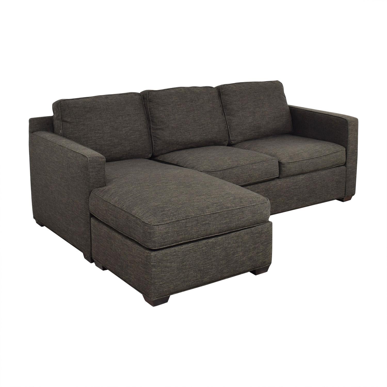 buy Crate & Barrel Reversible Chaise Sofa Crate & Barrel