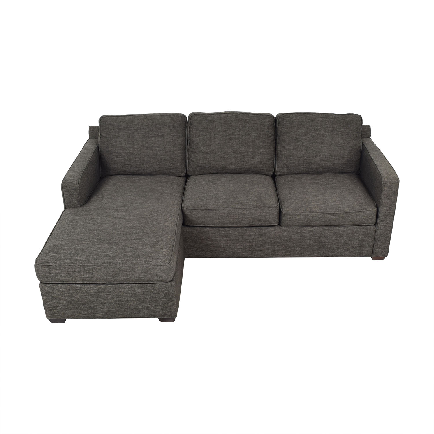 44% OFF - Crate & Barrel Crate & Barrel Reversible Chaise Sofa / Sofas