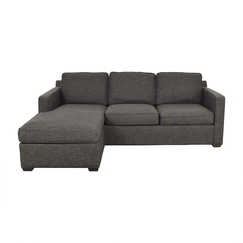 Crate & Barrel Crate & Barrel Reversible Chaise Sofa discount