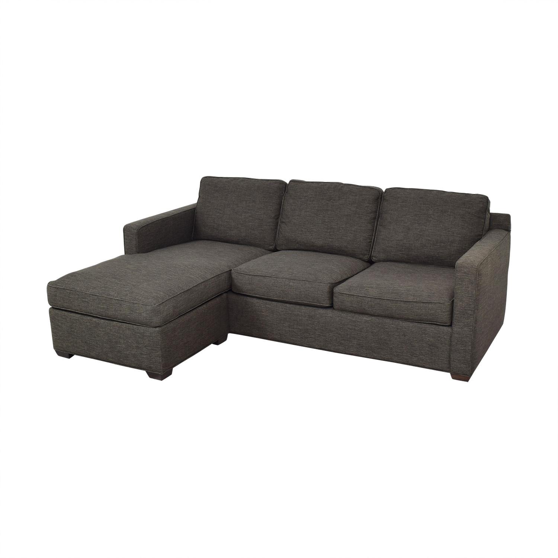 Crate & Barrel Crate & Barrel Reversible Chaise Sofa nj