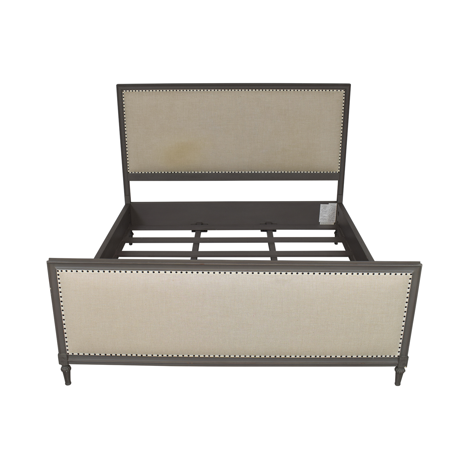 Restoration Hardware Restoration Hardware Maison Panel Fabric Bed with Footboard grey & beige