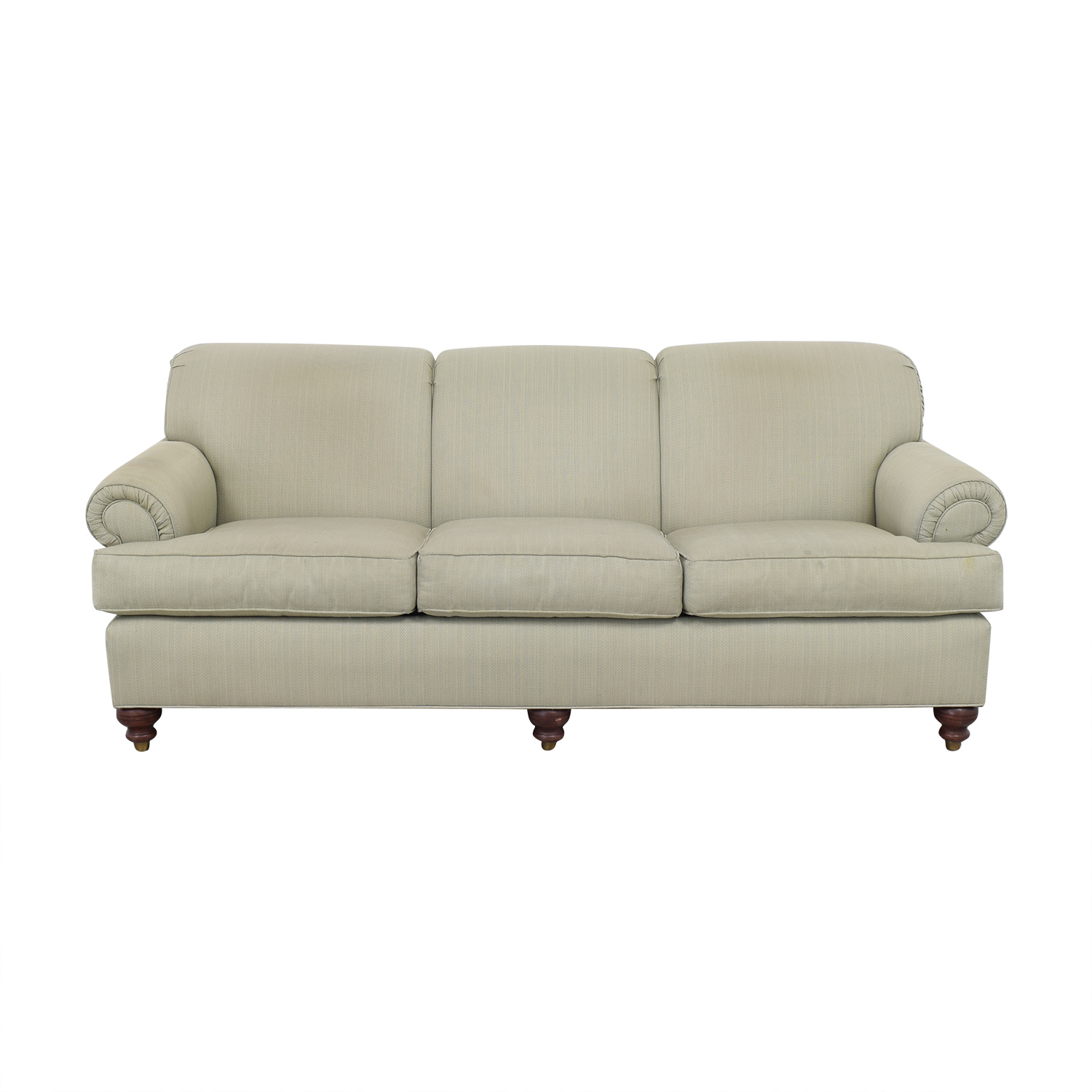 shop Ethan Allen Rolled Arm Three Seat Sofa Ethan Allen Classic Sofas