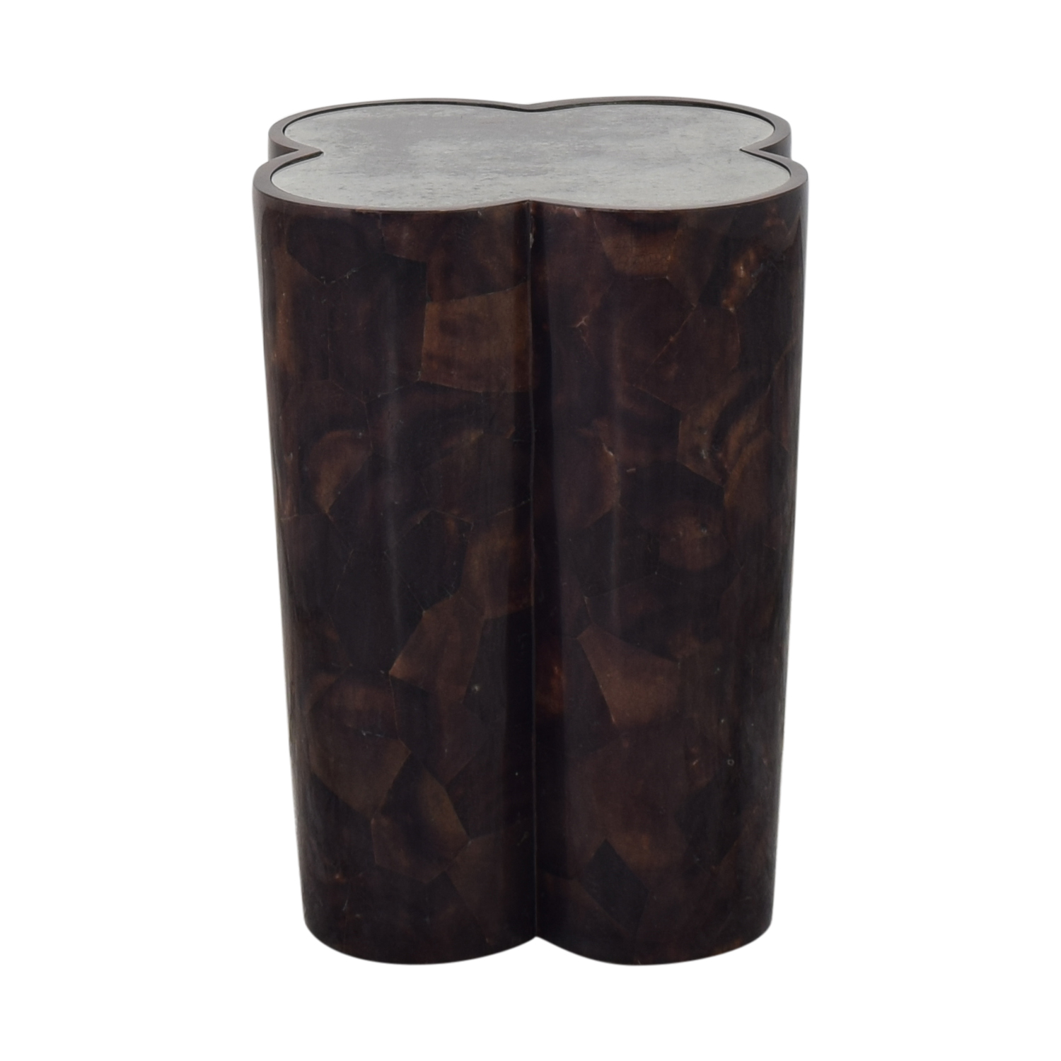 Penshell Side Table dark brown