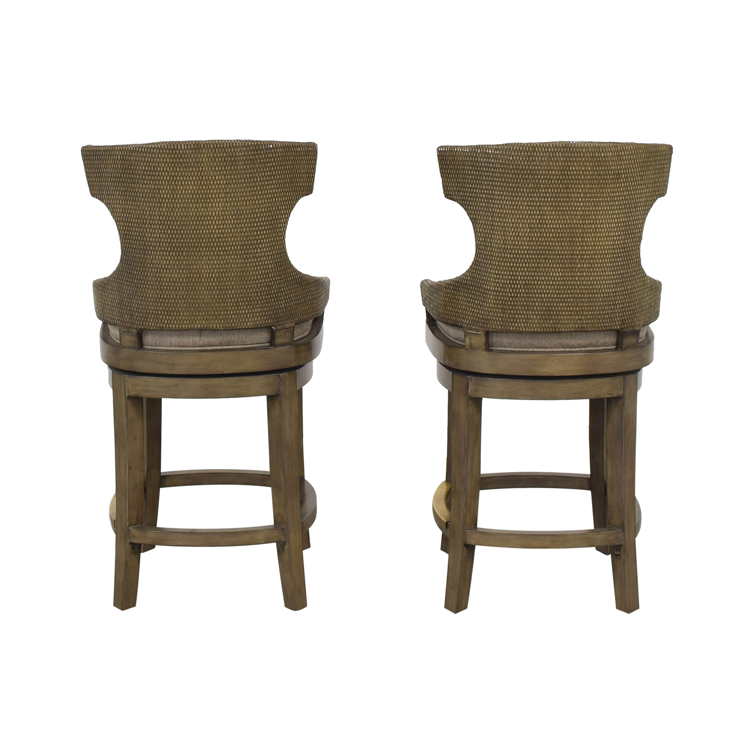 PI Inc Upholstered Swivel Bar Stools grey